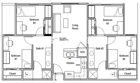 A Typical Unit Plan Is Private Bedroom With Shared Living Room And Bathrooms This Our Most Common Floor Similar To The
